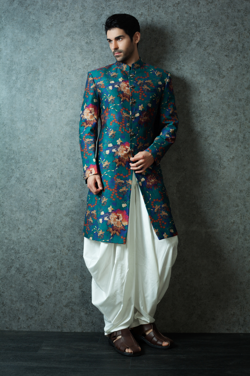 Colorful Indo Western Suit For Groom Crest - Wedding Dress Ideas ...